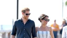 Pregnant Meghan dresses casually on day seven of royal tour – changing into a floaty dress and sandals for walkabout with Prince Harry