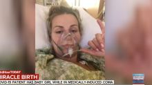 'I feel like I'm a miracle walking': Woman wakes from coronavirus coma to learn she's given birth