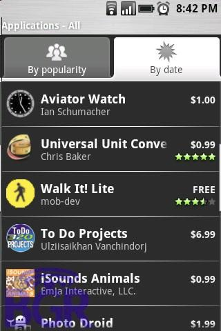 Paid apps appear in Android Market