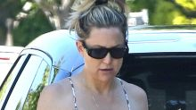 Kate Hudson Is Boho-Chic in Her Patterned Jumpsuit & Purposely Worn-In Sneakers
