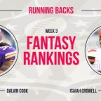 Week 3 Fantasy Football Rankings: Running back