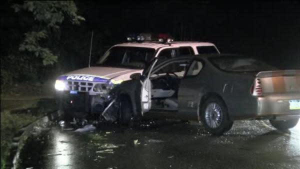 Police officer injured in East Falls car crash