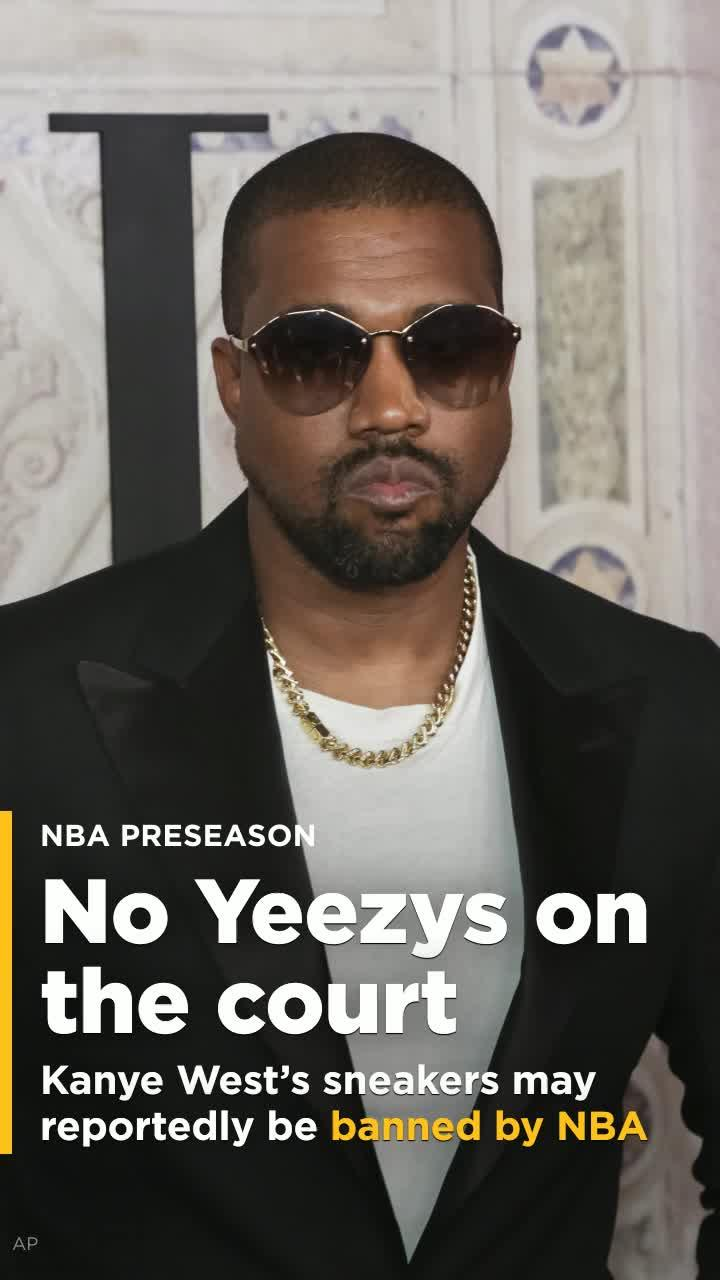 672b665b1a118 Kanye West s Yeezy basketball sneakers may not be allowed on NBA courts  this fall  Video