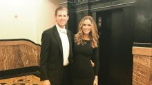 Lara Trump gets dressed up in little black dress for new parents' night out