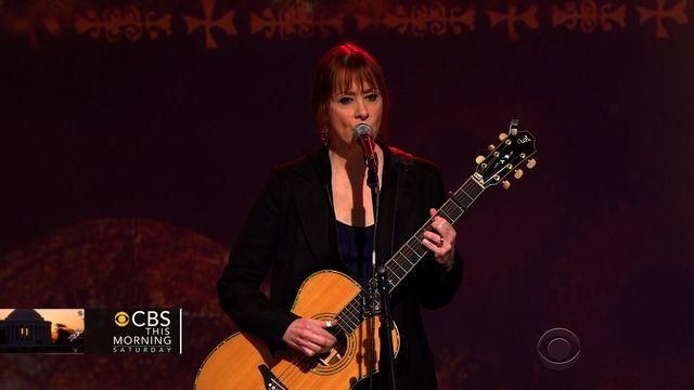 "Suzanne Vega performs her hit song, ""Luka"""