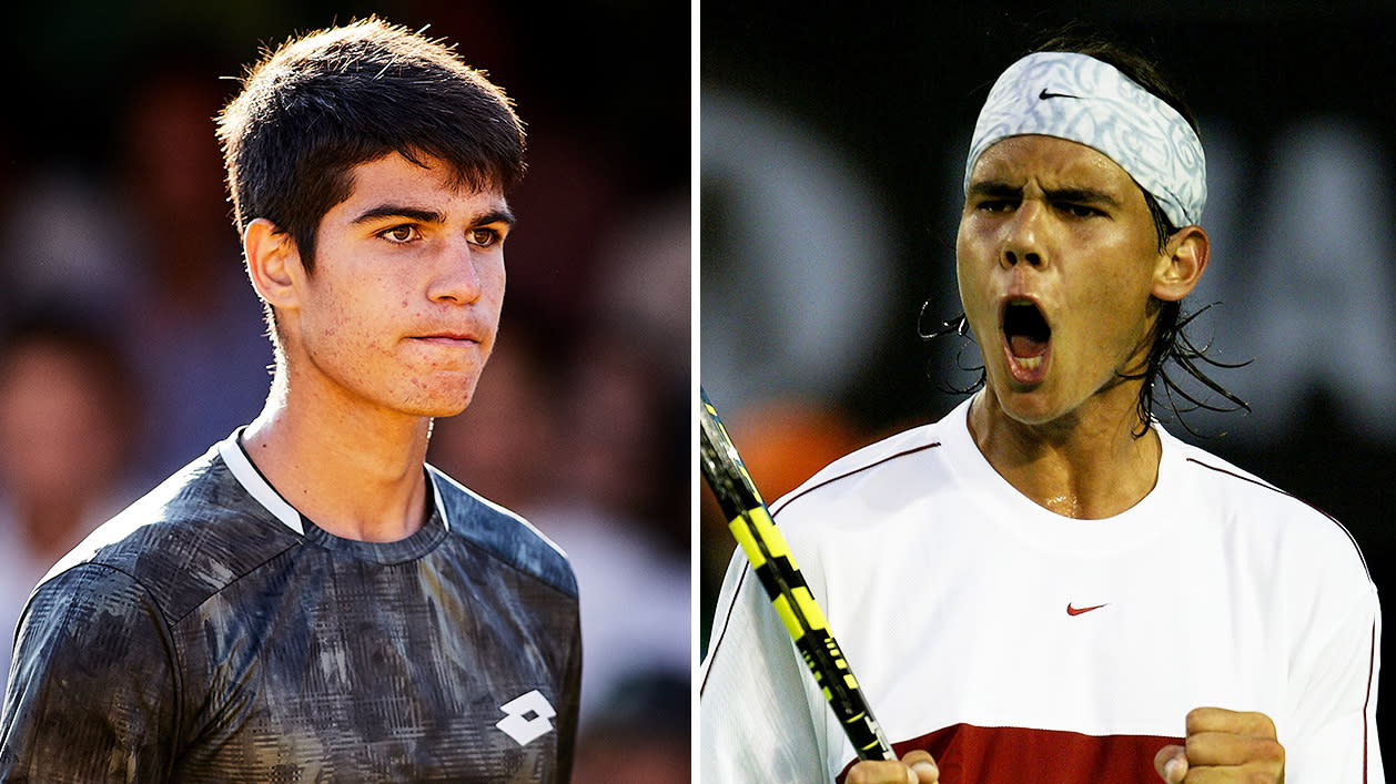 Shades of Rafael Nadal as 16-year-old stuns tennis world