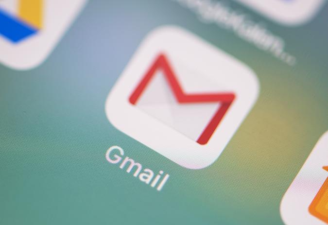 FILED - ILLUSTRATION - 04 July 2018,Germany, Berlin: The logo of the Gmail application can be seen on the screen of an iPhone. Google defended the controversial practice of App developers scanning the digital mailboxes at the Gmail service. Photo: Fabian Sommer/dpa (Photo by Fabian Sommer/picture alliance via Getty Images)