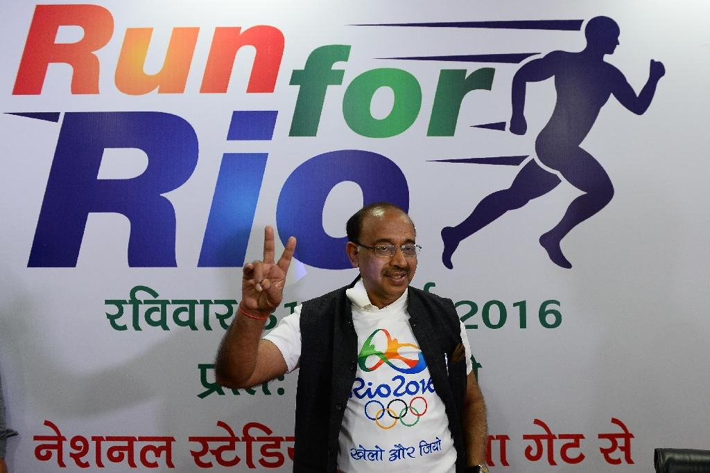 India's sports minister Vijay Goel attends a Rio Olympics press conference in New Delhi on July 25, 2016
