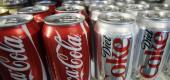 Coca-Cola and Diet Coke cans. (AP)