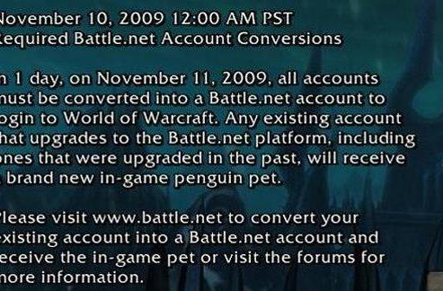Last day for non-Battle.net accounts to log on