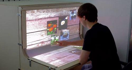 BendDesk: the curved multitouch workspace of the future (video)