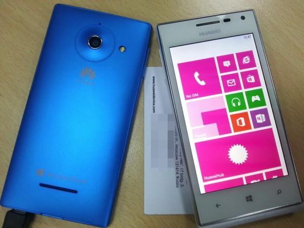 Huawei Ascend W1 makes an appearance in Blue and White