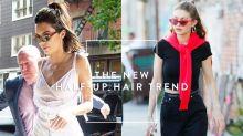 丸子頭過季了!超模們力証現在最流行的編髮是這個「Half-Up」頭!