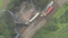 Homes evacuated after freight train catches fire in Wales