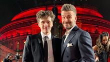 David Beckham shows off 'handsome' son Brooklyn on family night out