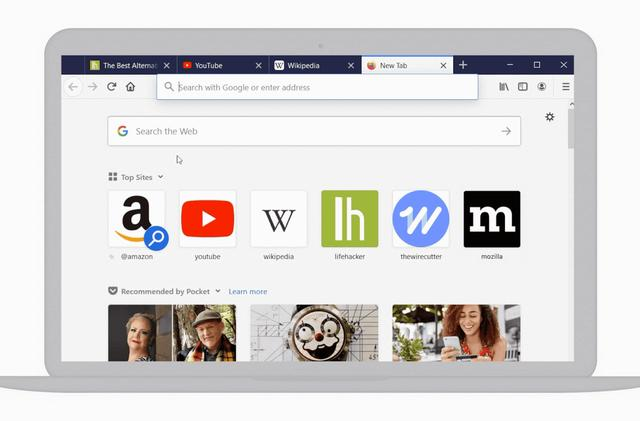 Firefox's revamped address bar is designed to make searching a lot faster