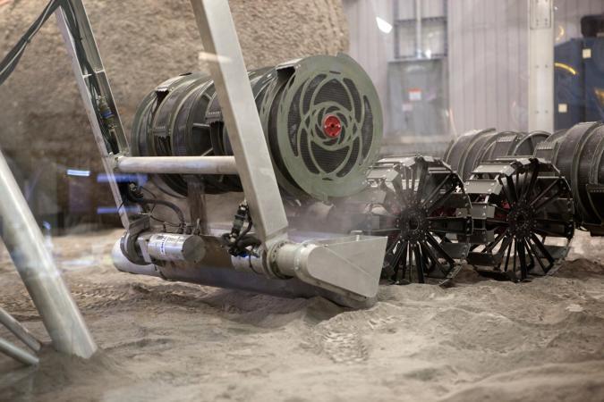 NASA RASSOR Moon-digging robot
