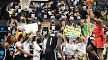 Hundreds Flood Brooklyn Nets Game In 'Stand With Hong Kong' T-Shirts