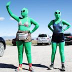 Alien enthusiasts descend on Area 51 for a UFO party