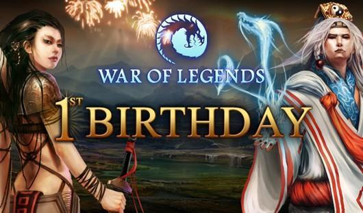 War of Legends celebrating first anniversary with lots of cake