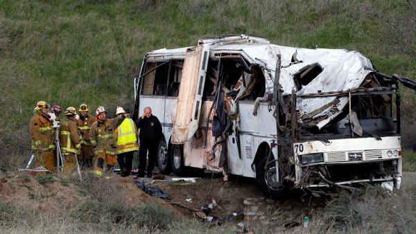 At least 8 people killed in Calif. bus crash
