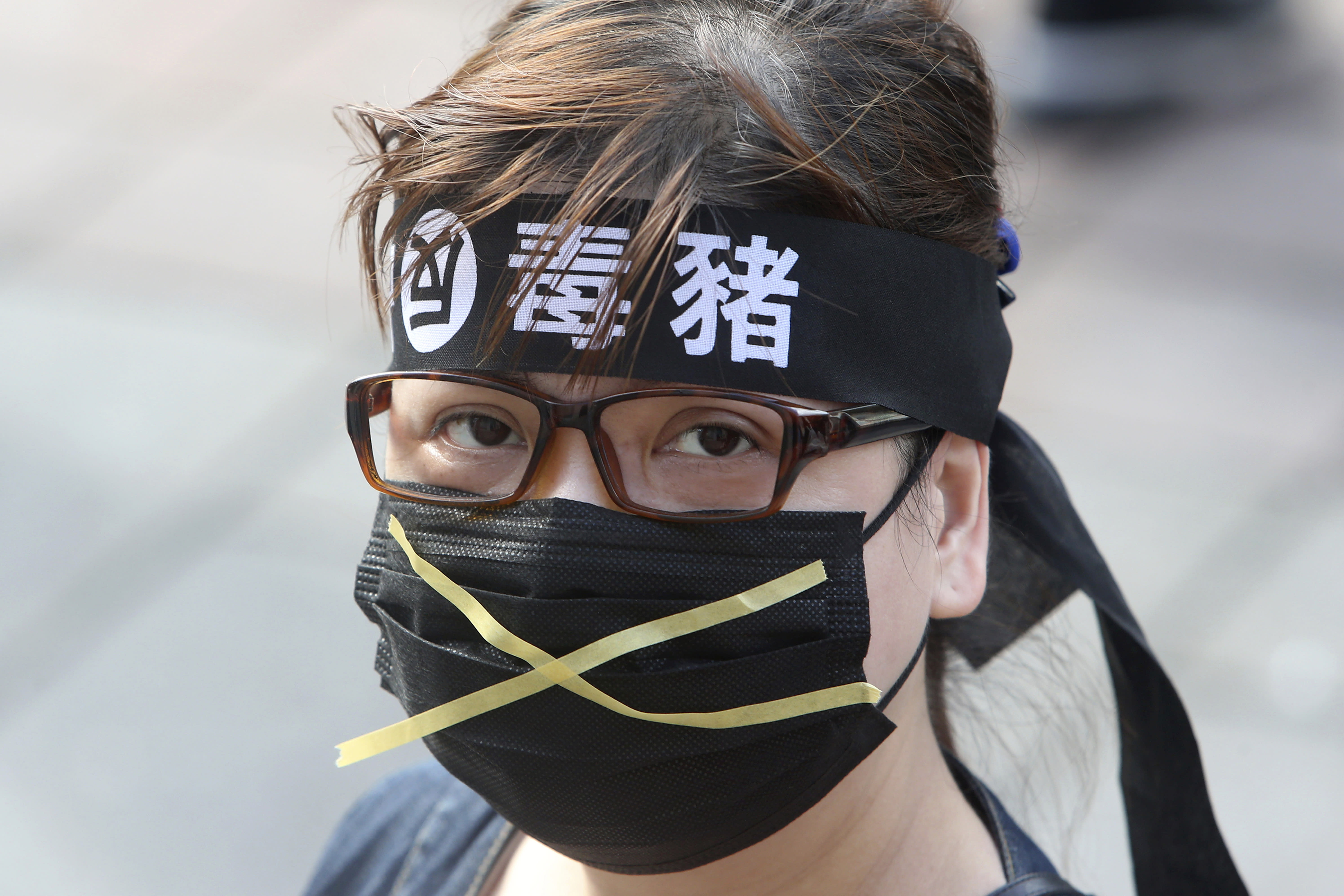 Thousands march in Taiwan streets against US pork imports