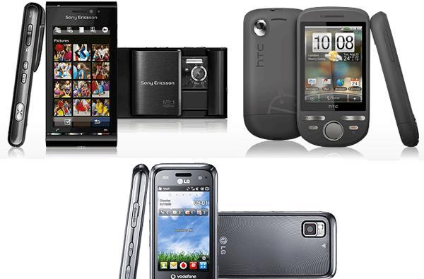 Sony Ericsson Satio, HTC Tattoo, and LG GM750 now on offer at Vodafone