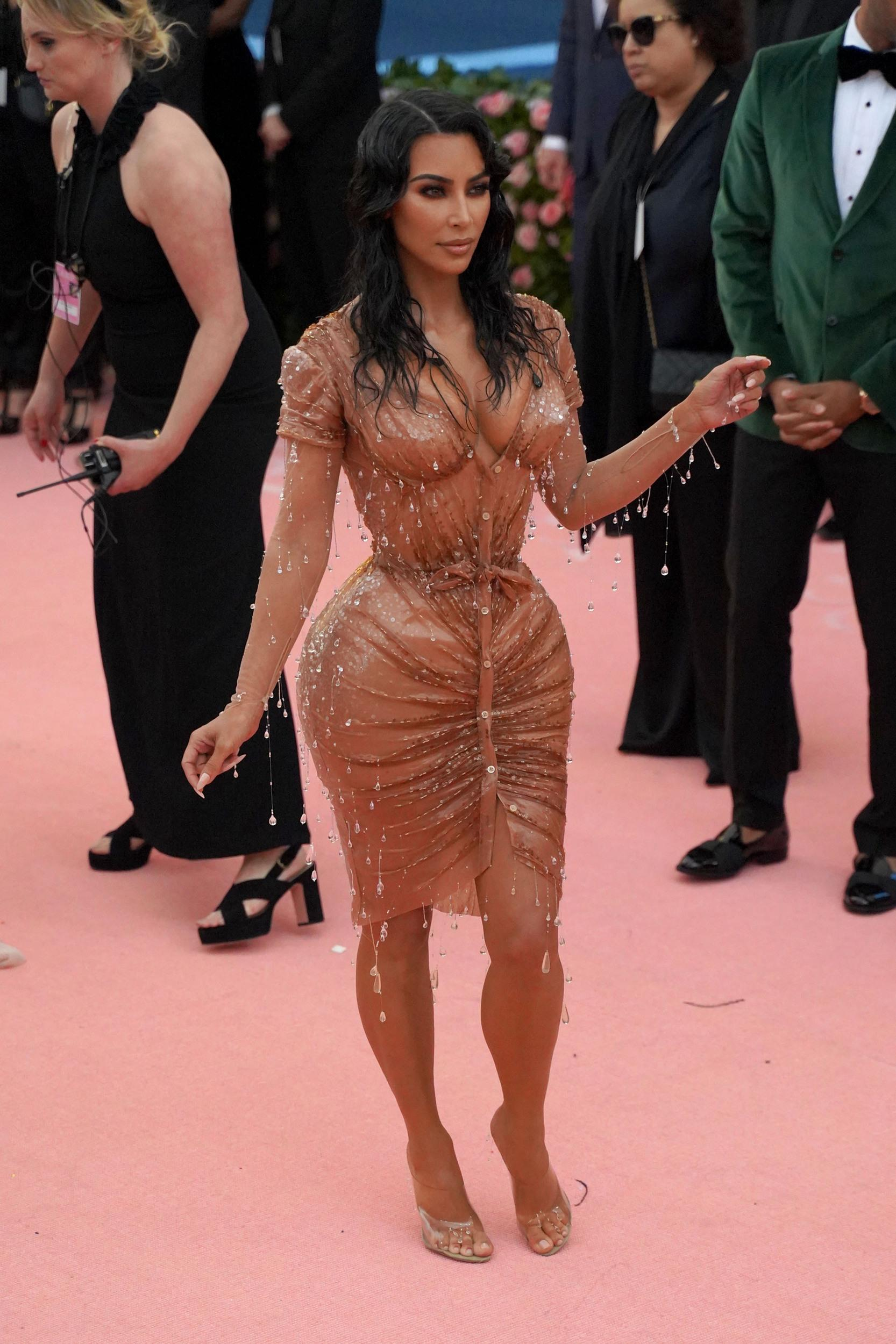 """NEW YORK, NY - MAY 6: Kim Kardashian attends The Metropolitan Museum Of Art's 2019 Costume Institute Benefit """"Camp: Notes On Fashion"""" at Metropolitan Museum of Art on May 6, 2019 in New York City. (Photo by Sean Zanni/Patrick McMullan via Getty Images)"""