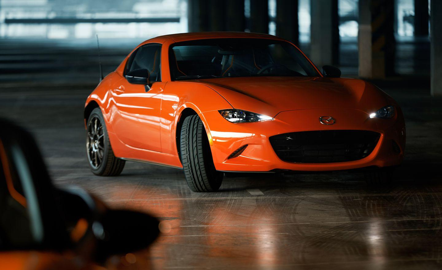 "<p>The new Racing Orange paint was developed specifically for the 30th Anniversary Miata, and Mazda says it ""represents sunrise and anticipation"" and ""evokes the breaking dawn of an exciting new day.""</p>"