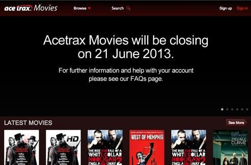 Acetrax movie service to close, lights go dim on June 21st