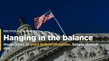 House votes to avert federal shutdown, Senate chances dim