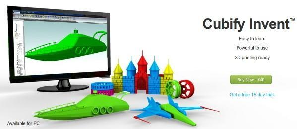 Cubify Invent: affordable design tool created just for 3D printing