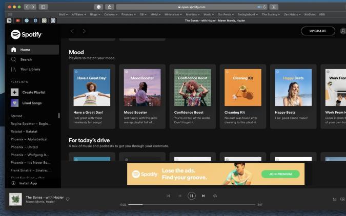 Spotify's Safari Web Browser