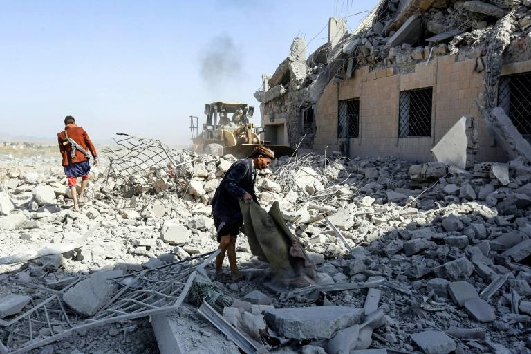 A Saudi-led coalition strike in early September hit a former college used by Yemen's Huthi rebels as a detention centre, killing over 100 according to the ICRC