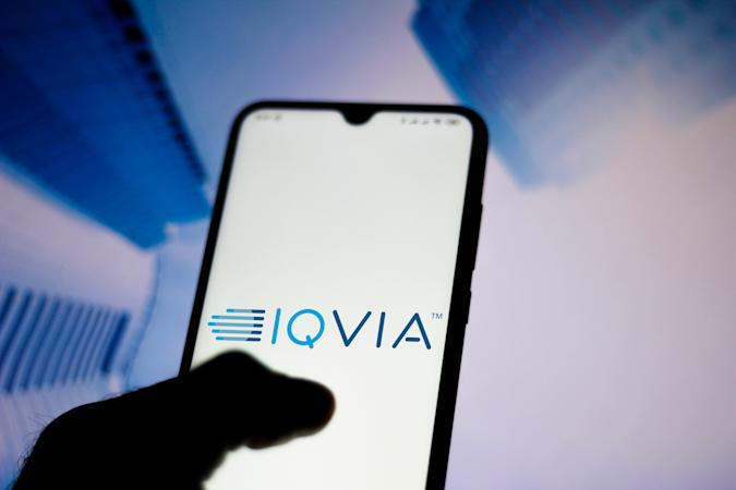 BRAZIL - 2020/06/16: In this photo illustration the IQVIA Holdings logo seen displayed on a smartphone. (Photo Illustration by Rafael Henrique/SOPA Images/LightRocket via Getty Images)