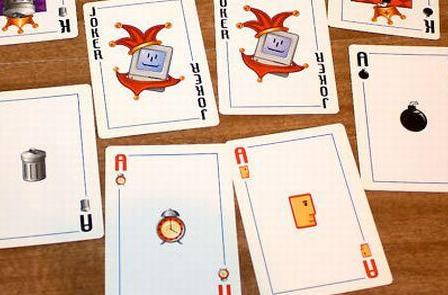 Mac OS 7 logos turned into playing cards