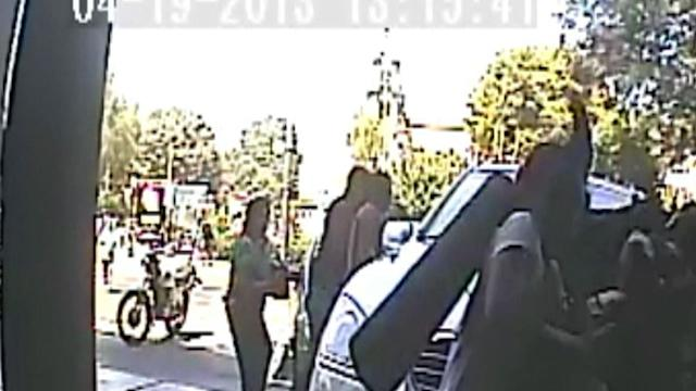 CCTV Catches Moment Car Hits Pedestrians in Lima