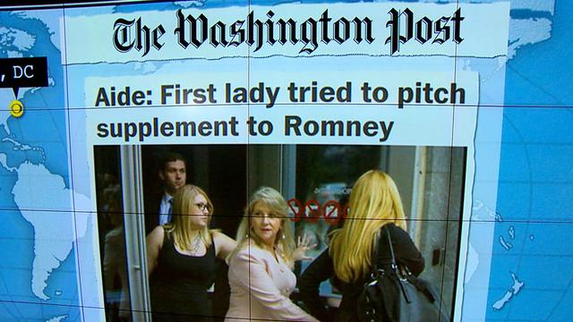Headlines at 7:30: Former Virginia first lady sought to pitch supplement to Romney