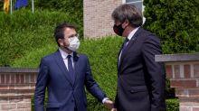 Independentistas catalanes insisten desde Bélgica en reclamar un referéndum
