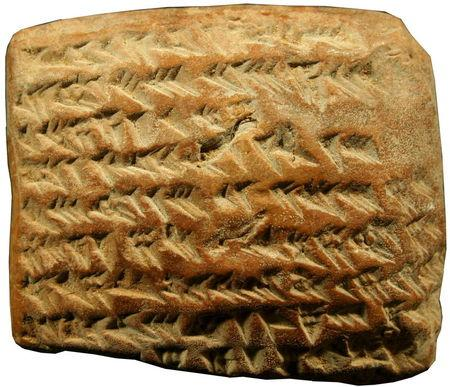 A clay tablet dating from 350 to 50 BC. REUTERS/Trustees of the British Museum/Mathieu Ossendrijver