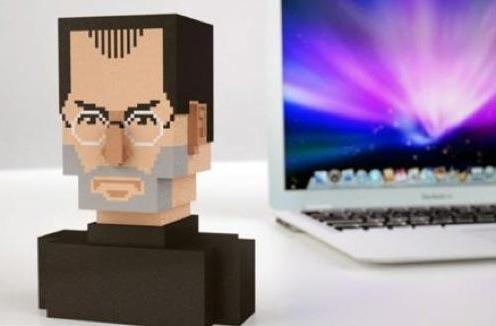3D printed Steve Jobs pixel bust for sale