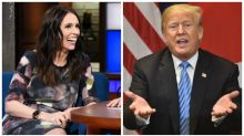 Jacinda Ardern's awkward encounter with Donald Trump
