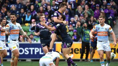 Storm scramble to NRL win over Titans