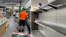 'Unbelievable': Coles and Woolworths shelves stripped ahead of Christmas