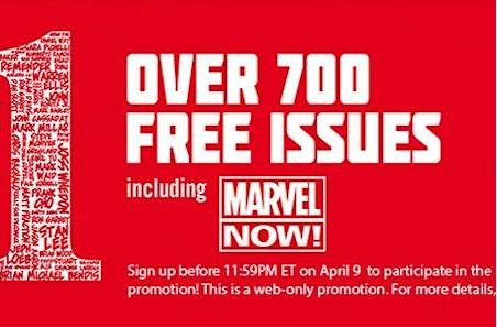 Marvel giving away over 700 free first issue digital comics (for real, totally seriously this time)