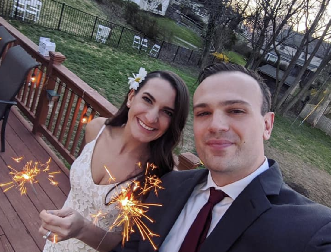 Nurse and first responder get married in socially distanced backyard wedding: 'We aren't promised tomorrow'