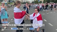 Bielorussia, proposta di matrimonio durante le proteste