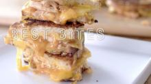 How make BBQ chicken grilled cheese