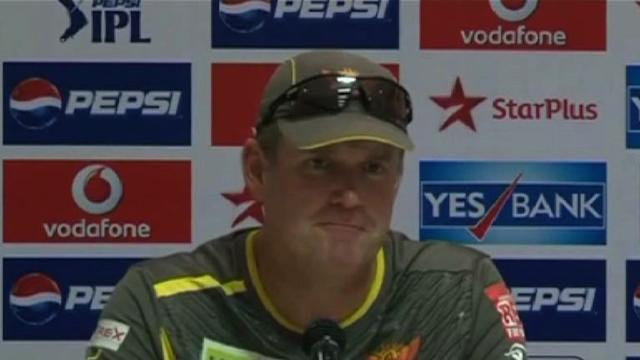 Sunrisers Hyderabad pre-match press conference