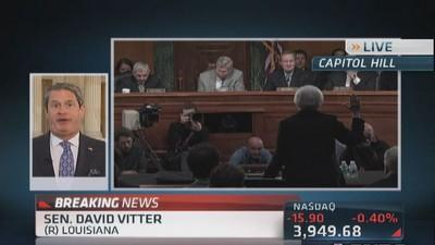 Sen. Vitter: Will ask Yellen about free money policy